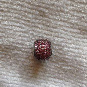 "Pandora "" pink pave' lights"" charm"